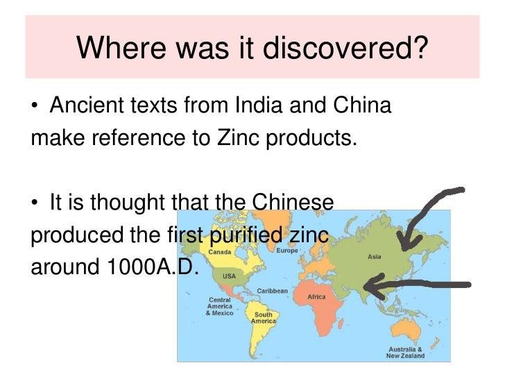 When was zinc discoverd