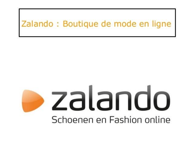 Zalando : Boutique de mode en ligne