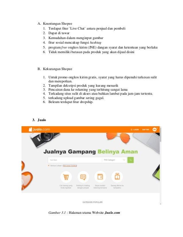 Review Analisis E Commerce Zalora Shopee Dan Jualo