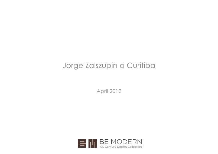 Jorge Zalszupin a Curitiba         April 2012