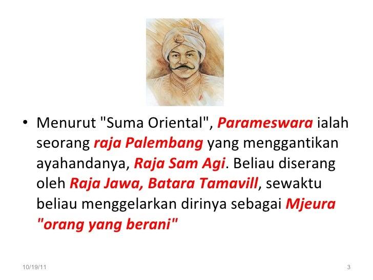 Zaman Kesultanan Melayu Melaka Slide 3