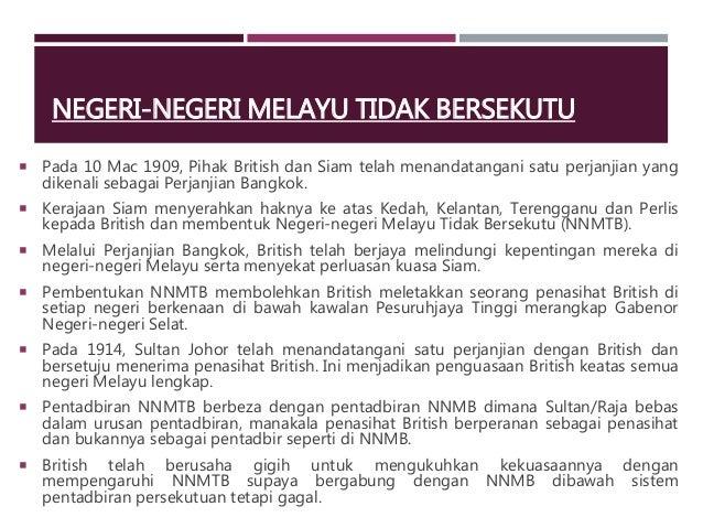 Pentadbiran Negeri Negeri Melayu Tidak Bersekutu Lessons Tes Teach