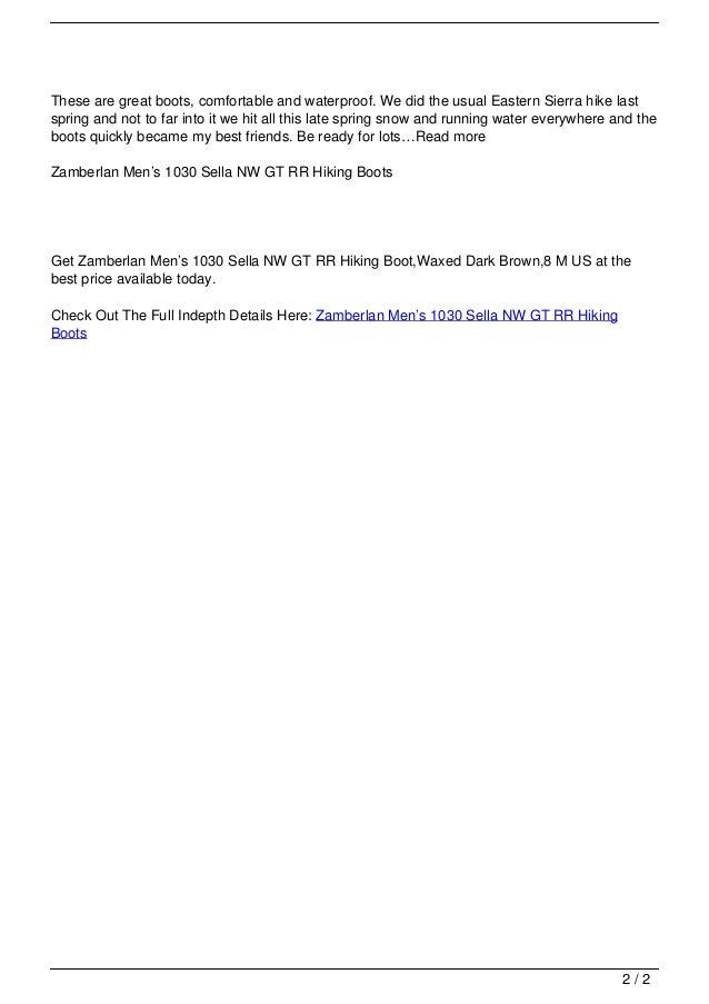 f5d59227bb5 Zamberlan Men's 1030 Sella NW GT RR Hiking Boots