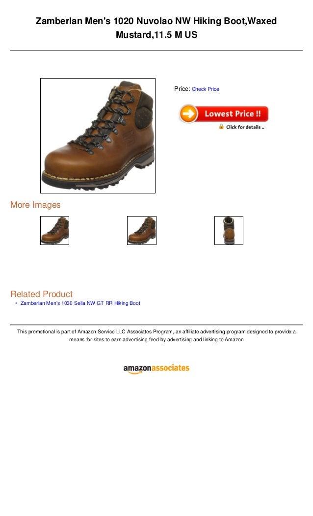 •Zamberlan Mens 1020 Nuvolao NW Hiking Boot,WaxedMustard,11.5 M USMore ImagesRelated ProductZamberlan Mens 1030 Sella NW G...