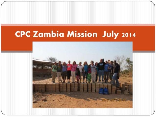 CPC Zambia Mission July 2014