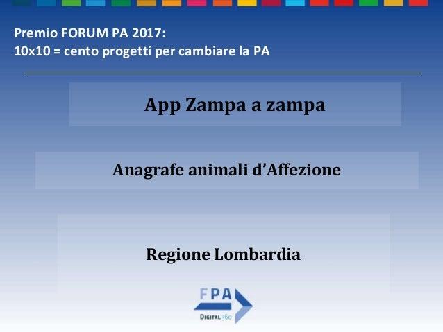 Zampa a zampa premio forum pa 2017 Slide 2