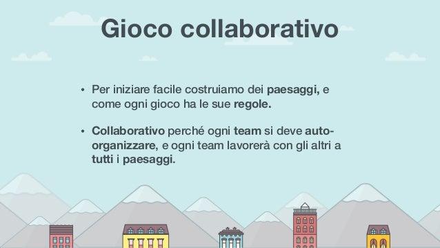 Gioco collaborativo • Per iniziare facile costruiamo dei paesaggi, e come ogni gioco ha le sue regole. • Collaborativo per...