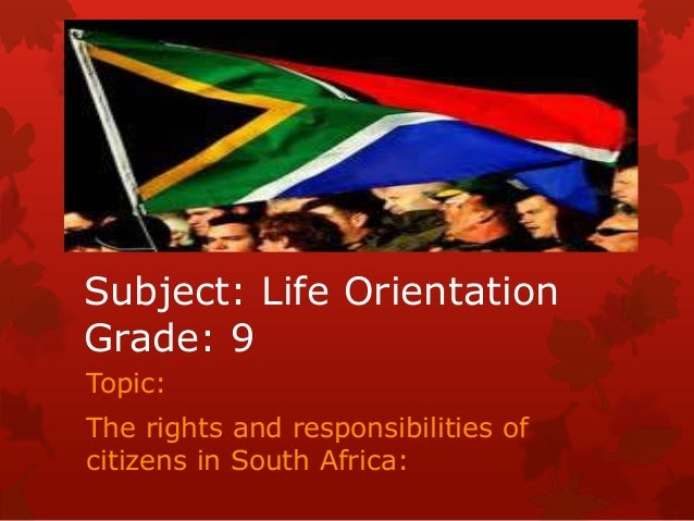 Life Orientation Grade 9 Rights and Responsibilities