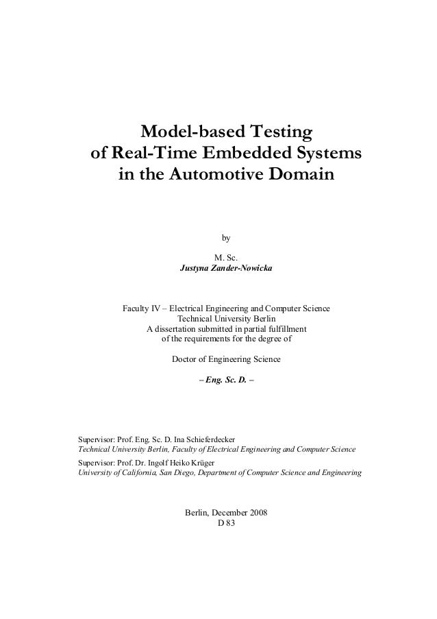 Model-based Testing   of Real-Time Embedded Systems       in the Automotive Domain                                        ...