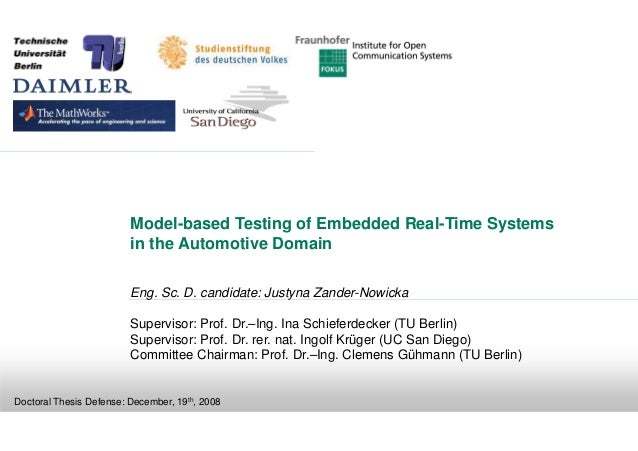 Model-based Testing of Embedded Real-Time Systems                         in the Automotive Domain                        ...