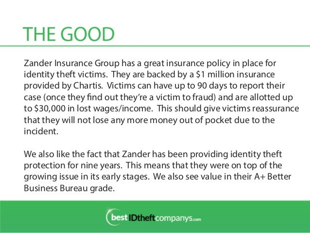 Zander insurance group review identity theft protection for Zander credit protection