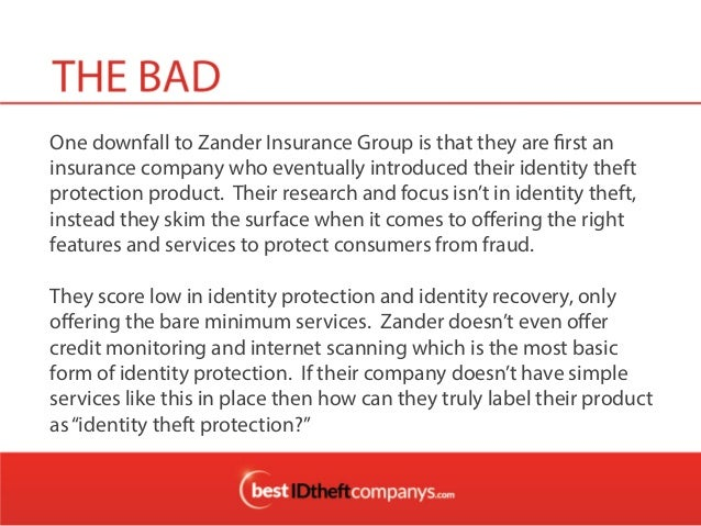 Zander Insurance Group Review, Identity Theft Protection