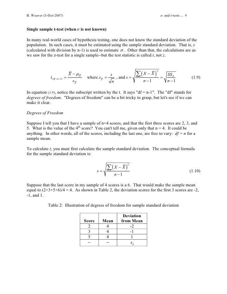 Z And T Tests