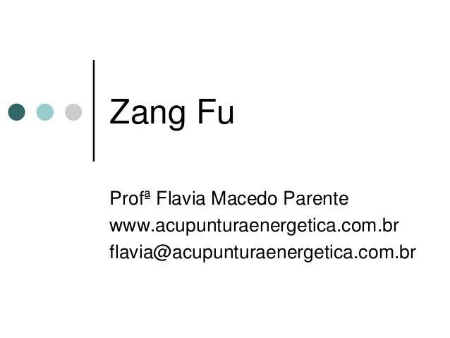 Zang Fu  Profª Flavia Macedo Parente  www.acupunturaenergetica.com.br  flavia@acupunturaenergetica.com.br