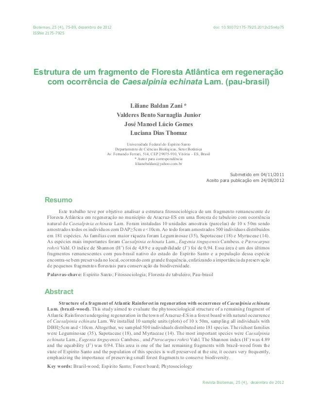 Biotemas, 25 (4), 75-89, dezembro de 2012                                                                                 ...