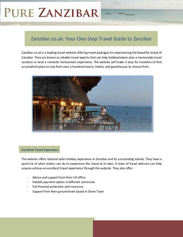 Zanzibar.co.uk: Your One-Stop Travel Guide to Zanzibar Zanzibar.co.uk is a leading travel website offering travel packages...