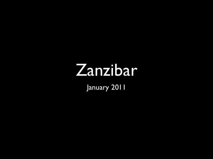 Zanzibar January 2011
