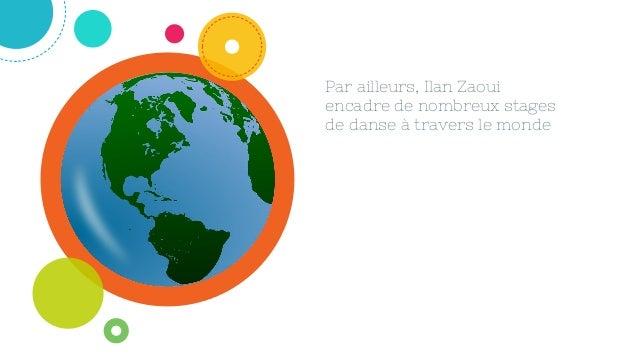 Par ailleurs, Ilan Zaoui encadre de nombreux stages de danse à travers le monde