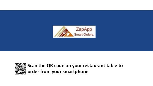 Scan the QR code on your restaurant table to order from your smartphone