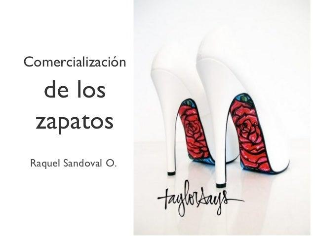 Comercialización   de los  zapatos Raquel Sandoval O.