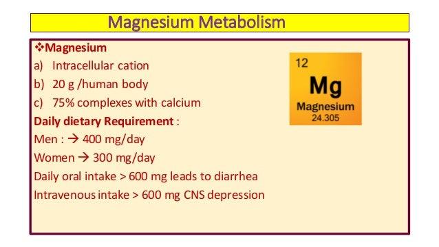 Magnesium for metabolism