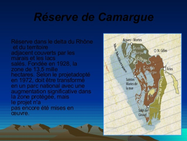 RéservedeCamargue Réserve dans le delta du Rhône et du territoire adjacent couverts par les marais et les lacs salés. Fo...