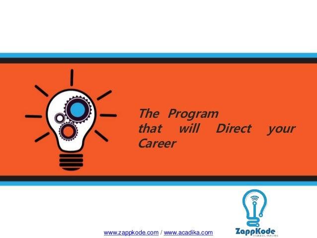 The Program that will Direct your Career www.zappkode.com / www.acadika.com