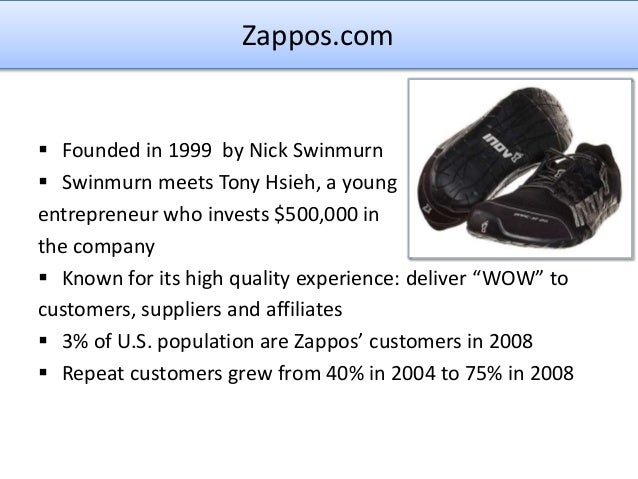 zappos.com - developing a supply chain to deliver wow! essay Zapposcom case essay or any similar topic only for you order now order now  zapposcom: developing a supply chain to deliver wow essay on marketing strategies.