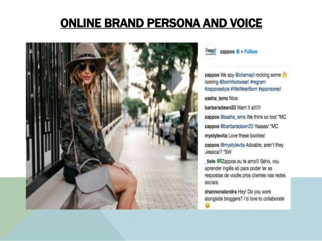 ONLINE BRAND PERSONA AND VOICE