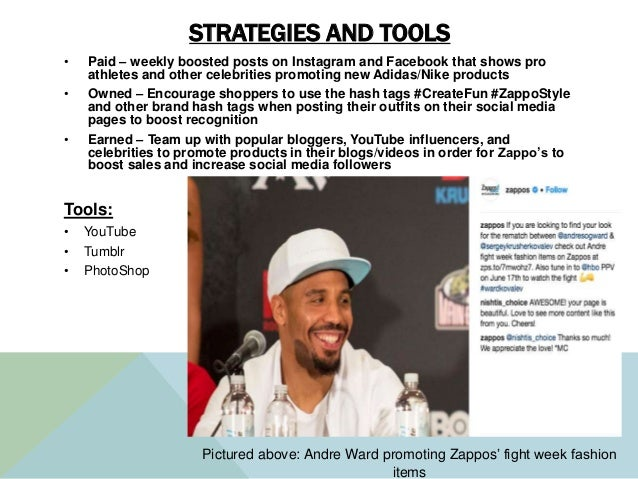 STRATEGIES AND TOOLS • Paid – weekly boosted posts on Instagram and Facebook that shows pro athletes and other celebrities...