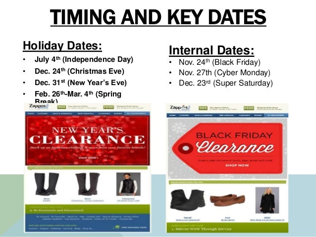 TIMING AND KEY DATES Holiday Dates: • July 4th (Independence Day) • Dec. 24th (Christmas Eve) • Dec. 31st (New Year's Eve)...