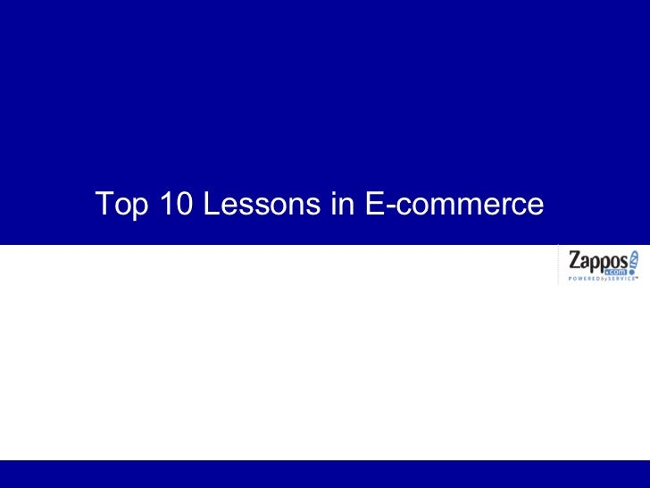 Top 10 Lessons in E-commerce