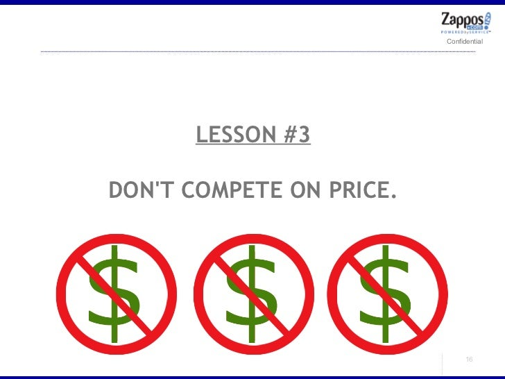 LESSON #3 DON'T COMPETE ON PRICE.