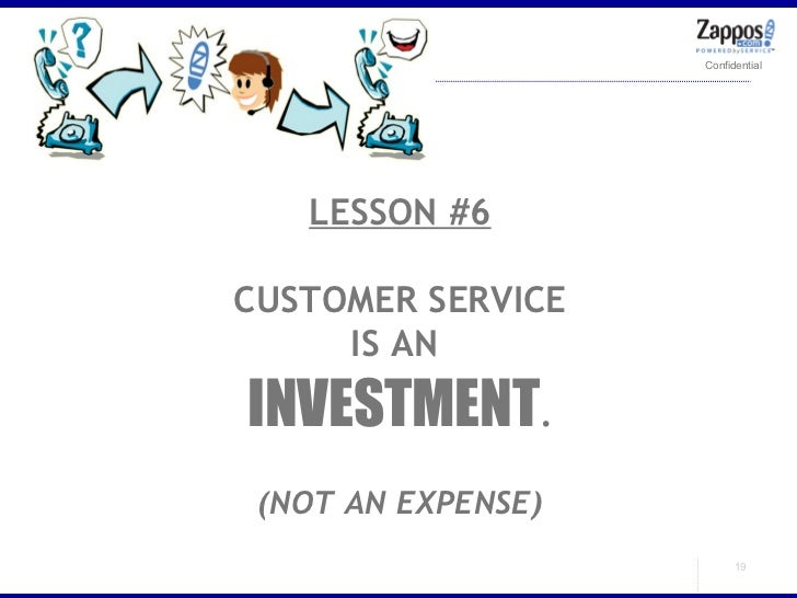 LESSON #6 CUSTOMER SERVICE IS AN  INVESTMENT . (NOT AN EXPENSE)