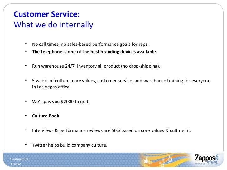 Customer Service: What we do internally <ul><ul><li>No call times, no sales-based performance goals for reps. </li></ul></...