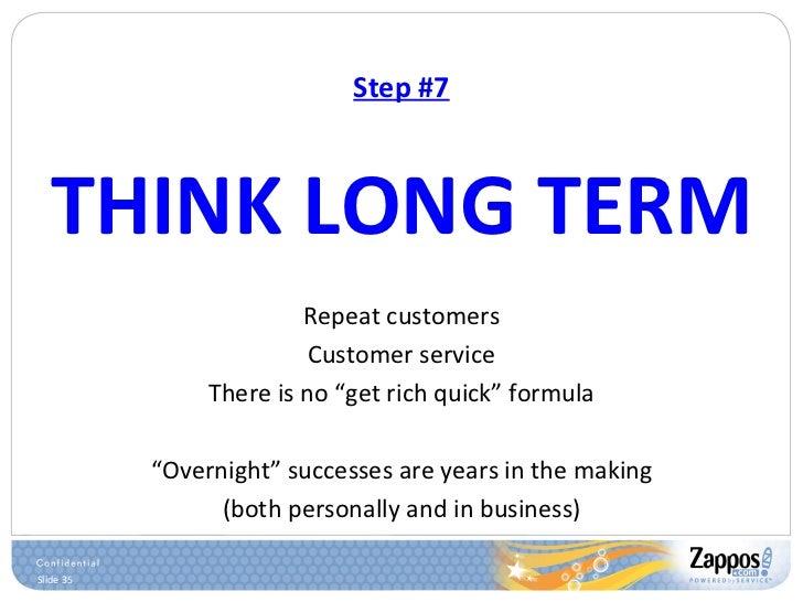 Step #7 <ul><li>THINK LONG TERM </li></ul><ul><li>Repeat customers </li></ul><ul><li>Customer service </li></ul><ul><li>Th...