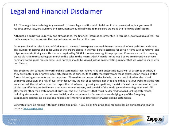 Legal and Financial Disclaimer <ul><ul><li>P.S.  You might be wondering why we need to have a legal and financial disclaim...
