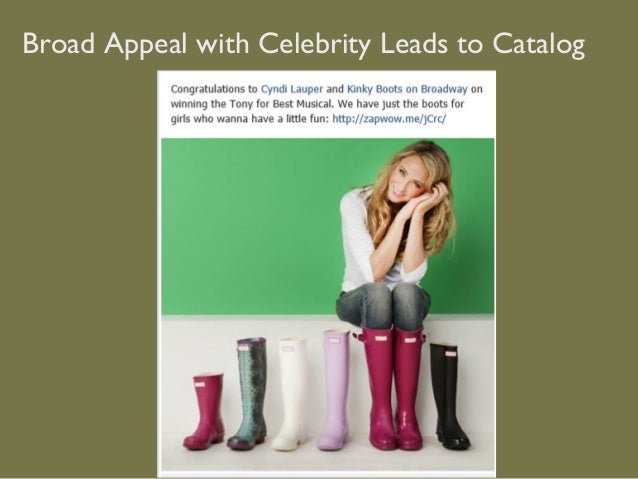 Broad Appeal with Celebrity Leads to Catalog