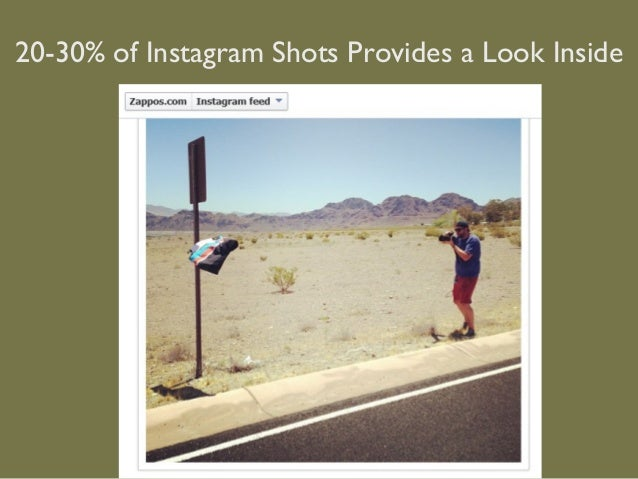 20-30% of Instagram Shots Provides a Look Inside