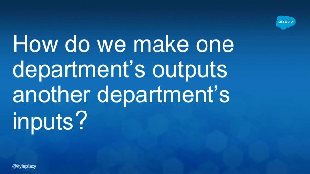 @kyleplacy How do we make one department's outputs another department's inputs?