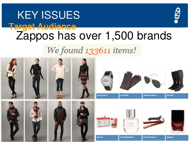 KEY ISSUES Target Audience  Zappos has over 1,500 brands  Aspiring Entrepreneurs of America