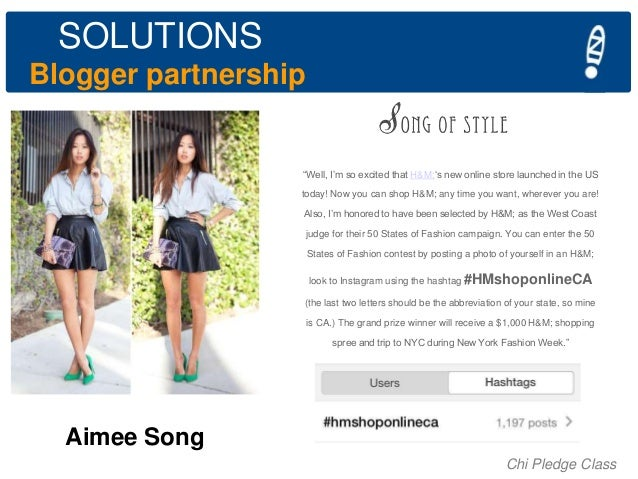 """SOLUTIONS Blogger partnership  """"Well, I""""m so excited that H&M;""""s new online store launched in the US today! Now you can sh..."""