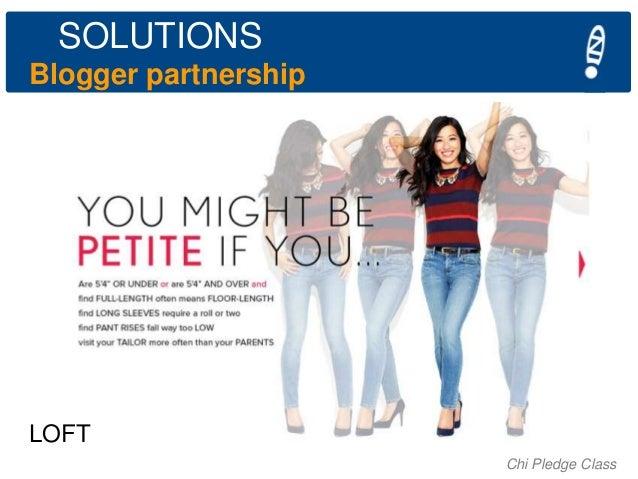 SOLUTIONS Blogger partnership  LOFT Chi Pledge Class