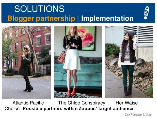 SOLUTIONS Blogger partnership   Implementation  Atlantic-Pacific The Chloe Conspiracy Her Waise Choice Possible partners w...