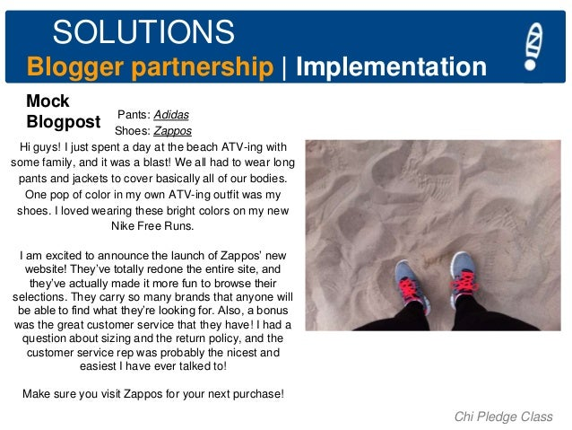SOLUTIONS Blogger partnership   Implementation Mock Blogpost  Pants: Adidas Shoes: Zappos Hi guys! I just spent a day at t...