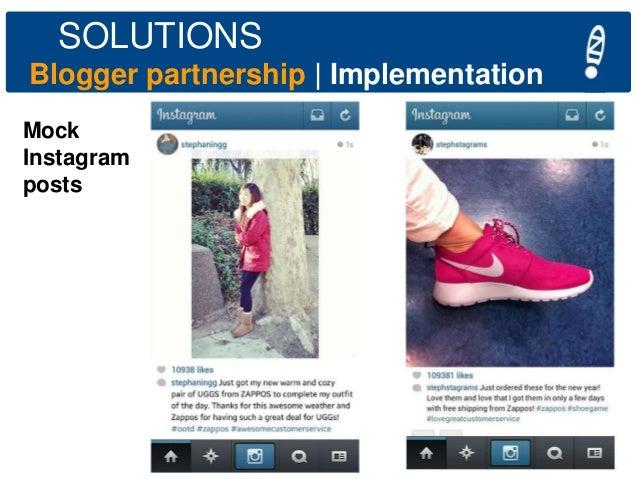 SOLUTIONS Blogger partnership   Implementation Mock Instagram posts  Chi Pledge Class