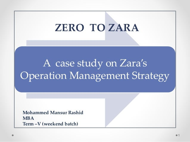 Operation management of ZARA