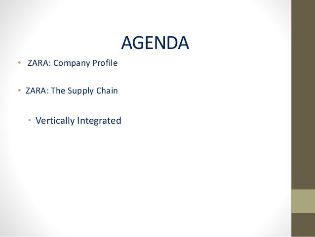 zara vertical integrated supply chain essay Vertical integration logistics: the logistics platform will enable integrated supply chain management essay on zara: success in vertical integration.