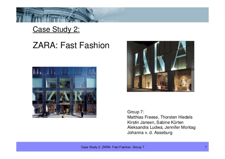 Zara fast fashion summary of harvard case study