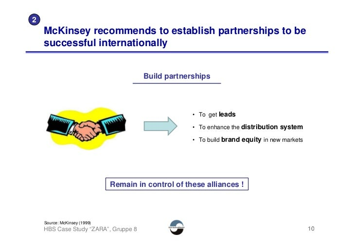 2     McKinsey recommends to establish partnerships to be     successful internationally                                  ...